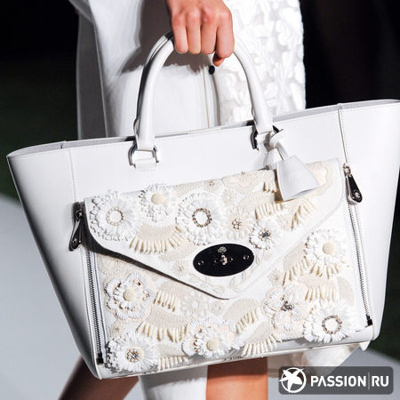 Mulberry White Lace Willow Bag